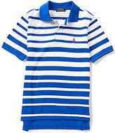 Ralph Lauren Big Boys 8-20 Ombre-Stripe Short-Sleeve Mesh Polo Shirt