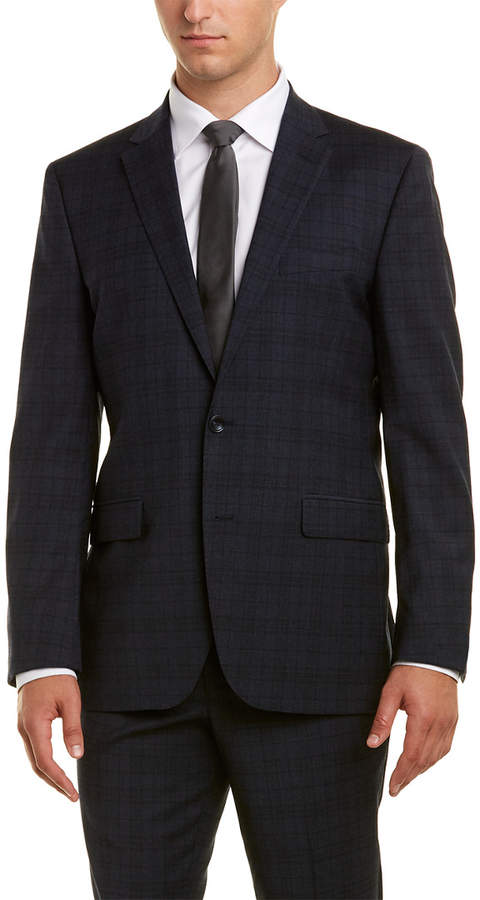 Kenneth Cole New York 2Pc Wool-Blend Suit With Pleated Pant