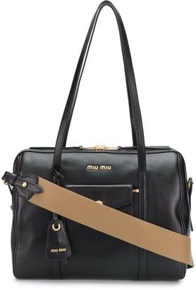 Miu Miu front pocket tote bag