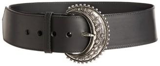 Etro Leather Feature-Buckle Belt