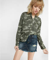 Express soft twill camouflage military boyfriend shirt