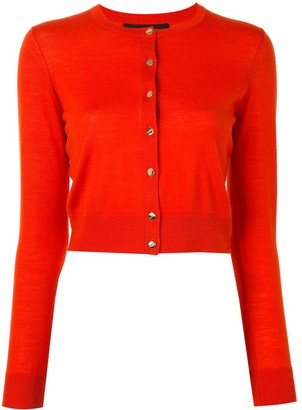 Paule Ka Cropped Wool Cardigan