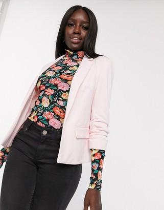 Miss Selfridge ponte blazer in pale pink