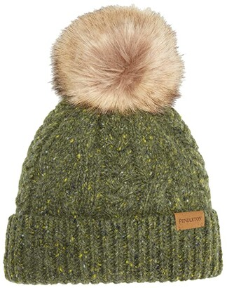 Pendleton Cable Hat (Green) Caps