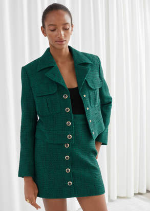 And other stories Tweed Cropped Blazer