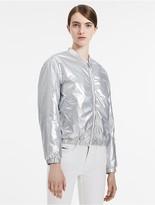 Calvin Klein Metallic Bomber Jacket