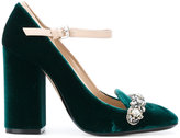 No.21 gem embellished pumps