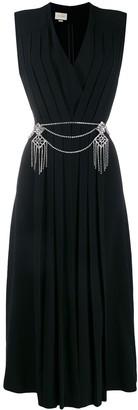 Gucci Pleated Wrap Dress