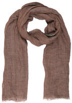 Brunello Cucinelli Rust Raw-Edge Scarf