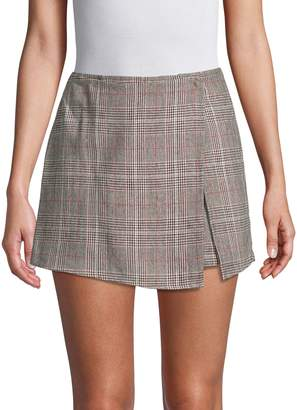 Lea & Viola Plaid Wrap Skort