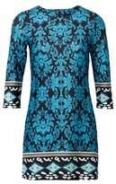 Dorothy Perkins Womens *Izabel London Multi Coloured Wallpaper Print Shift Dress