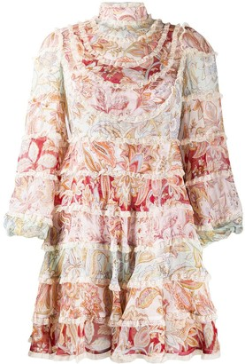 Zimmermann Paisley Print Tiered Dress