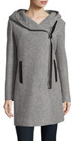 Andrew Marc Asymmetric Wool-Blend Coat