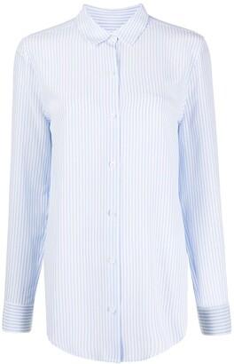 Equipment Pinstripe Silk Shirt