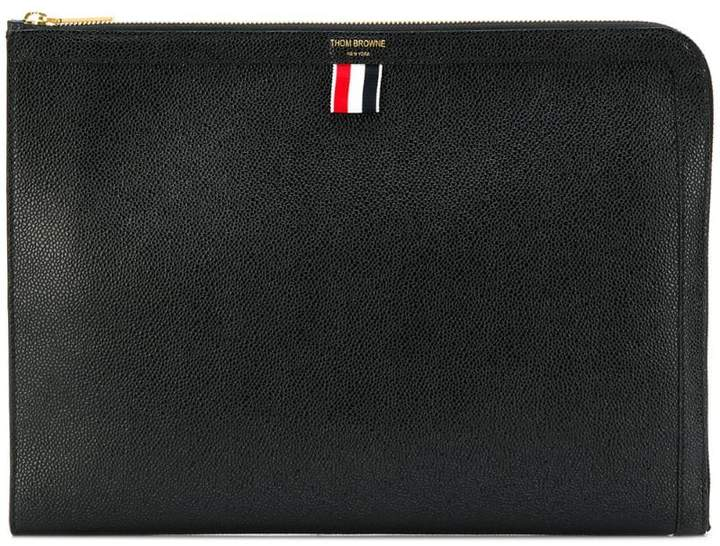 Thom Browne Pebbled Leather Document Gusset Folio