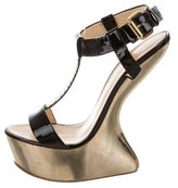 Giuseppe Zanotti Patent Leather Wedge Sandals
