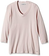 Gerry Weber Women's 3/4 Sleeve Long-Sleeved Top Pink Rosa (Puder 30602)