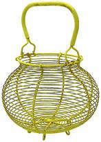 One Kings Lane Vintage French Yellow Egg Basket