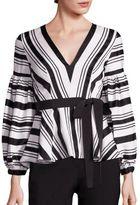 Alexis Sienna Striped Peplum Top