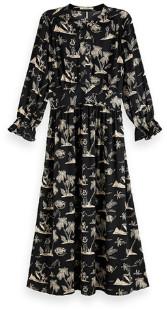Maison Scotch Aloha Print Midi Dress - XS (8)