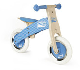 Janod Blue Checkerboard Pushbike With Adjustable Saddle