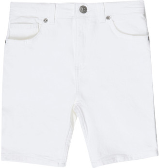River Island Boys white Sid skinny denim shorts