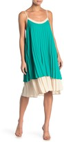 One One Six Colorblock Pleated Shift Dress