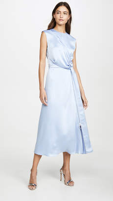 Cédric Charlier Satin Wrap Dress