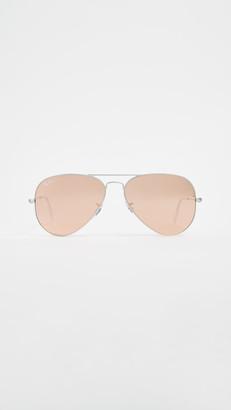 Ray-Ban RB3025 Classic Aviator Flash Matte Sunglasses