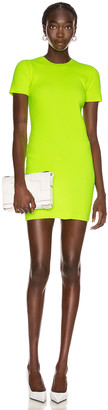 Helmut Lang Mini Dress in Neon Yellow | FWRD