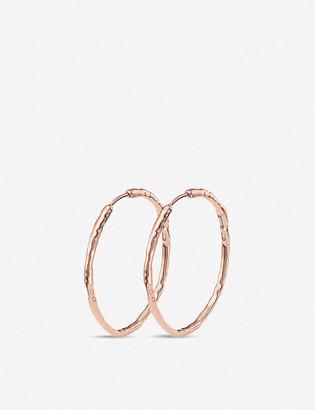 Monica Vinader Siren large 18ct rose gold-plated hoop earrings