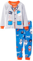 Petit Lem Mad Science Robot Pajama Set (Toddler Boys)