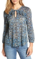 Lucky Brand Women's Floral Ruffle Top