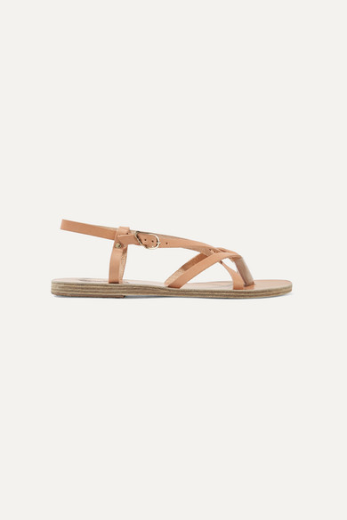Ancient Greek Sandals Semele Leather Sandals - Beige