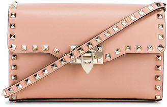Valentino Rockstud Small Shoulder Bag in Rose Cannelle | FWRD