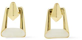 Noir 14-karat Gold-plated Resin Earrings