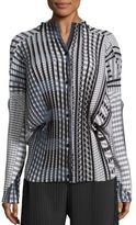Issey Miyake Pleated Button Front Shirt