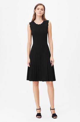 Rebecca Taylor Tailored Stretch Matte Viscose Dress