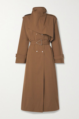 Bottega Veneta Belted Double-breasted Cotton-blend Gabardine Trench Coat - Light brown