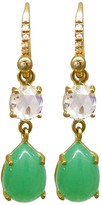 Irene Neuwirth Diamond and Chrysoprase Teardrop Earrings