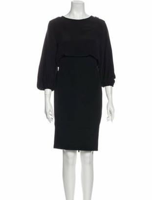 Chanel 2012 Knee-Length Dress Black
