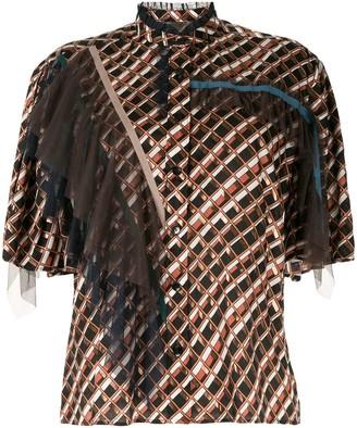 Kolor Ruffle Detail Shirt