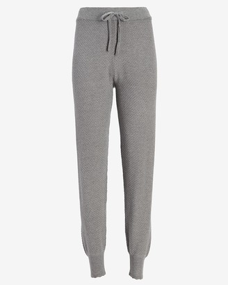 Express High Waisted Pointelle Jogger Pant
