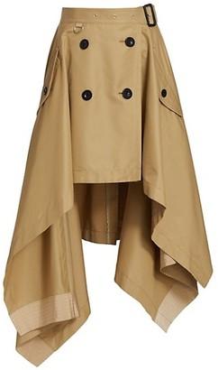 Sacai Cotton Gabardine Trench Skirt