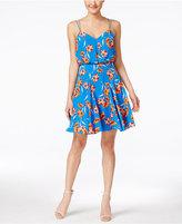 CeCe Pillar Floral-Print A-Line Dress