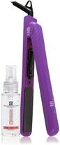 Brilliance New York 2-Piece Straight & Revived Hair Set: 1.25 Purple Ceramic Flat Iron & Argan Oil Serum