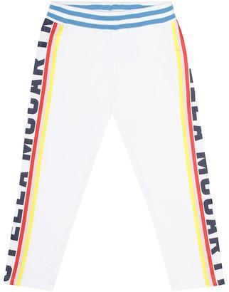 Stella McCartney Kids Printed cotton jersey trackpants