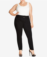City Chic Petite Plus Size Black Wash Skinny Jeans