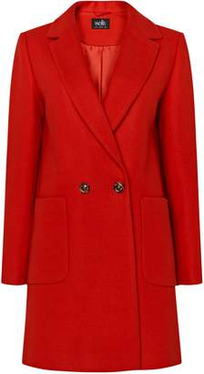 Wallis Red Tailored Coat