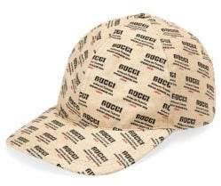 Gucci Logo Invite Print Canvas Baseball Hat